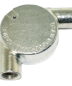 Tangent Angle Metal Conduit Box 20mm Galvanised 3