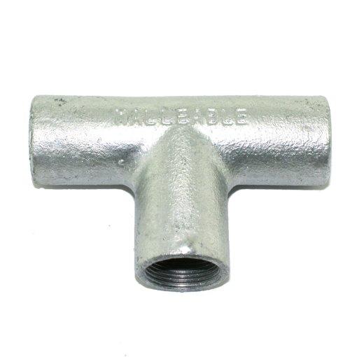 25mm Galvanised Metal Conduit Solid Tee
