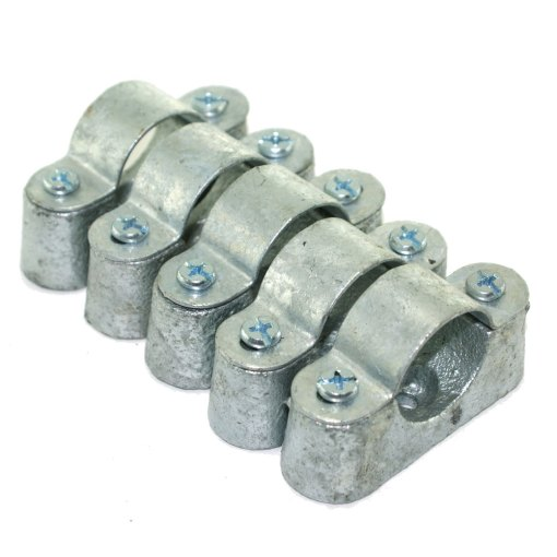 5 x 25mm Distance Saddle Galvanised for Conduit