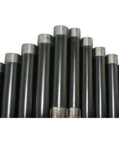 Pre Cut and Threaded Black Steel Conduit Tube