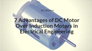 advantages of dc motor