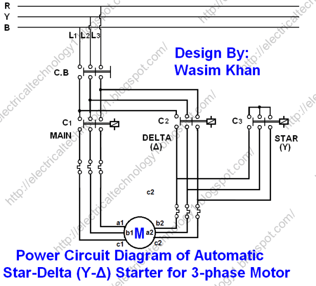 Star delta motor starter wiring diagram pdf automotivegarage star delta 3 phase motor automatic starter with timer wiring diagram asfbconference2016 Choice Image