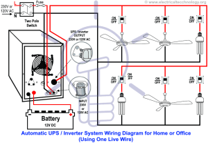 Automatic UPS  Inverter Wiring & Connection Diagram to