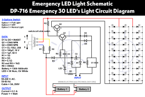 Emergency LED Lights Powerful & Cheap LED716 Circuit