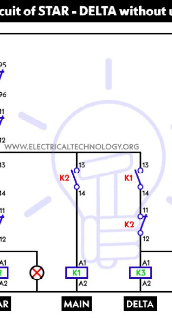 stardelta starter motor starting method  power  control