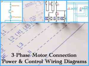 Three Phase Motor Power & Control Wiring Diagrams