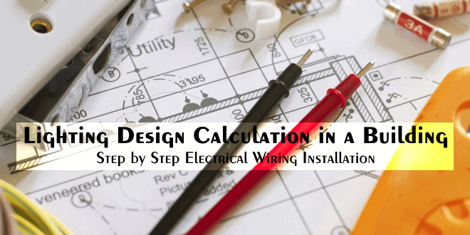lighting design calculation in a