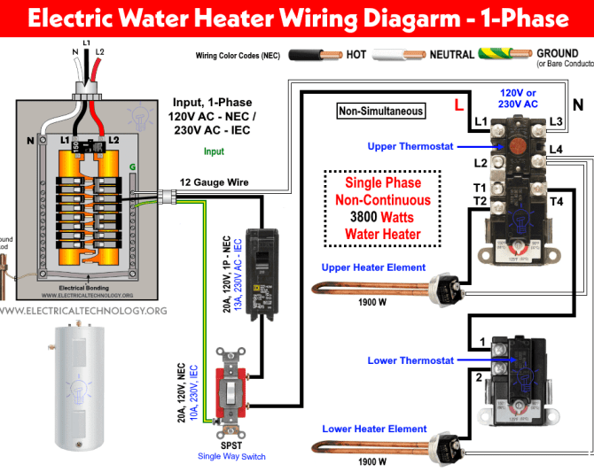 diagram 3 phase water heater thermostat wiring diagram