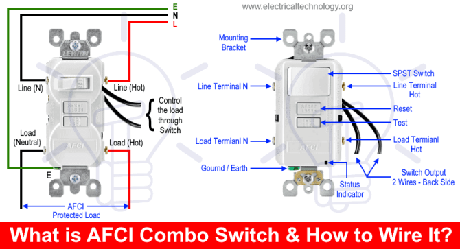 how to wire an afci combo switch – afci switch wiring diagrams