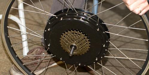 9C Rear hub with 7-speed freewheel
