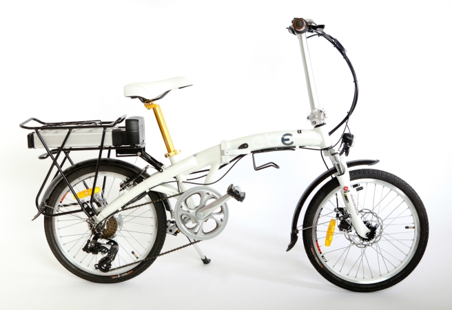 "A generic folding bike from China with 20-inch wheels, marketed as GBE's ""M20"""