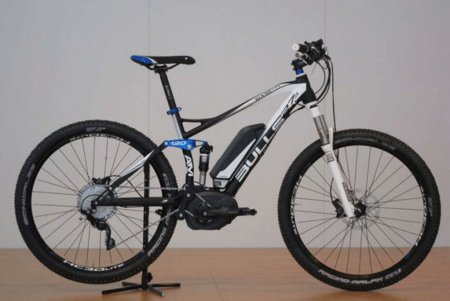 The Bulls six50 full suspension pedelec.