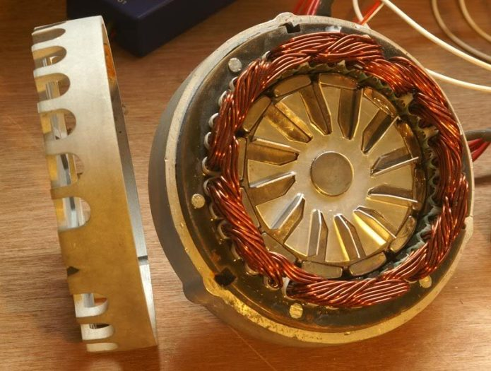 "Here's the inside of the ""Planet Ryder"" motor (no longer made)"