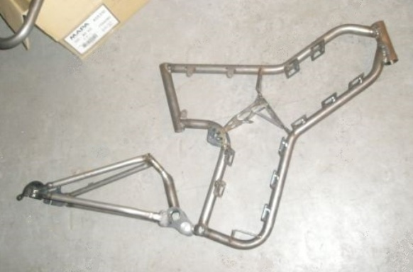 A first-gen Grayborg frame welded up.
