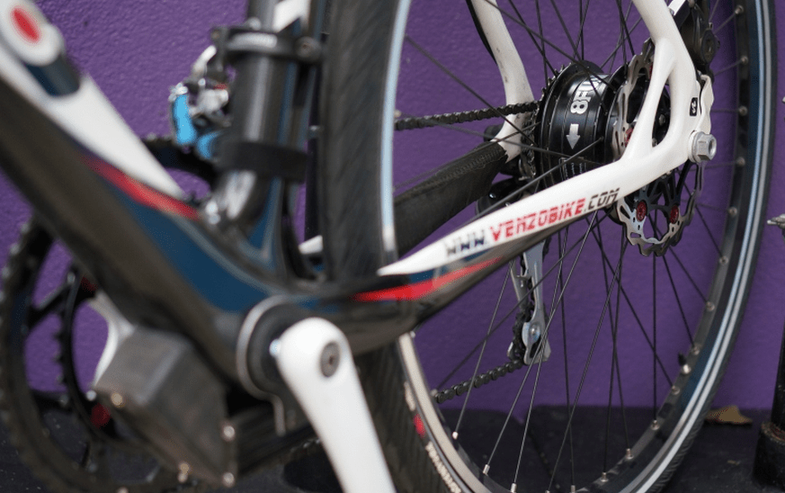 Once the SWXH is mounted between the sprocket-cluster and the disc brake, it's practically invisible.