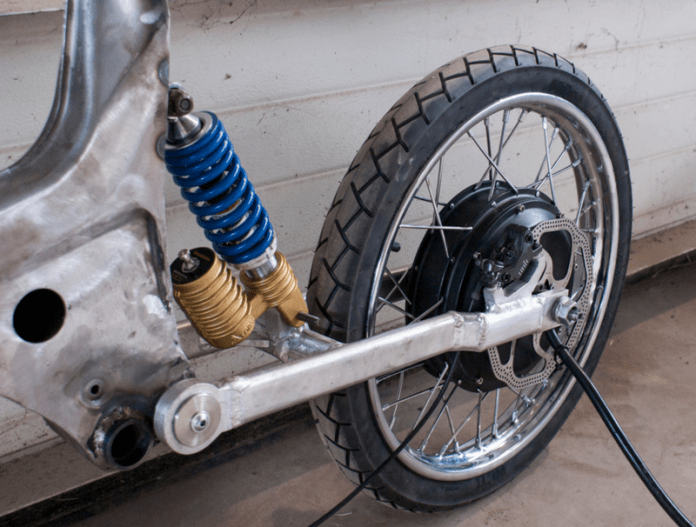 Here is a custom-built ebike made from a moped frame | ELECTRICBIKE COM