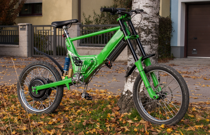 Here is a custom-built ebike made from a moped frame | ELECTRICBIKE.COM