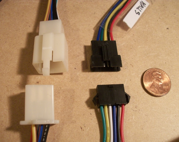 If you don't know what connectors to get, this may help ...  Pin Wiring Harness Scooter on 6 pin throttle body, 6 pin switch harness, 6 pin power supply, 6 pin ignition switch, 6 pin transformer, 6 pin cable, 6 pin voltage regulator, 6 pin connectors harness, 6 pin wiring connector,