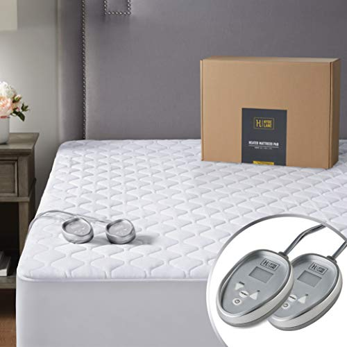 Sunbeam King Heated Mattress Pad Quilted w// 10 Heat Settings /& 10 Hour Auto-Off