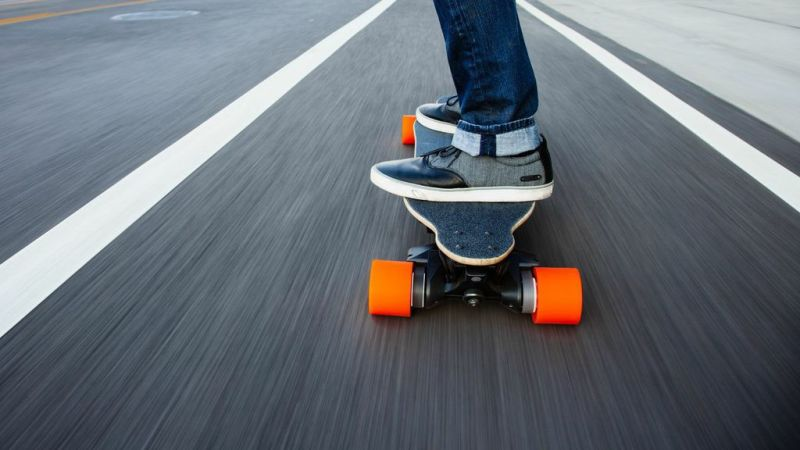 riding boosted board