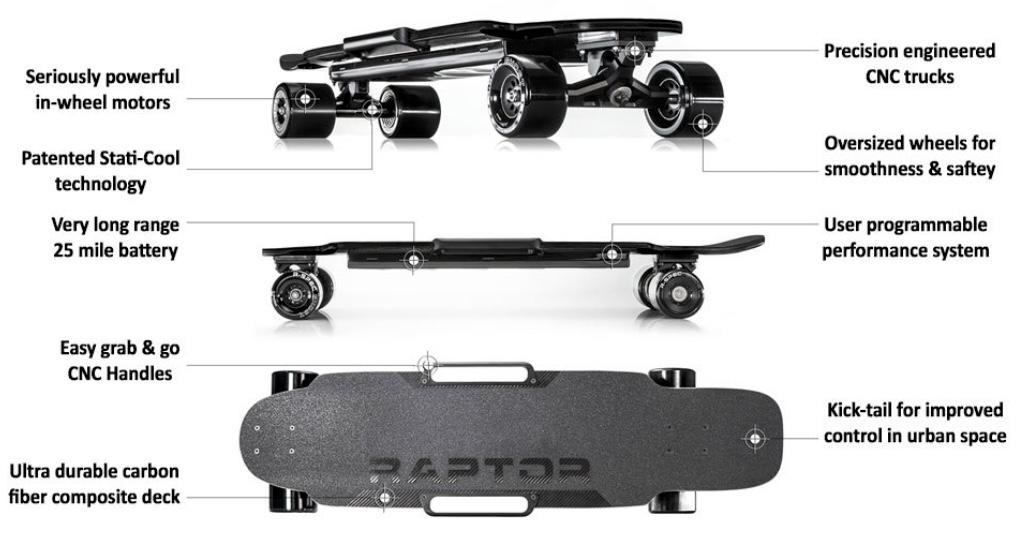 Enertion Raptor 2 Electric Skateboard