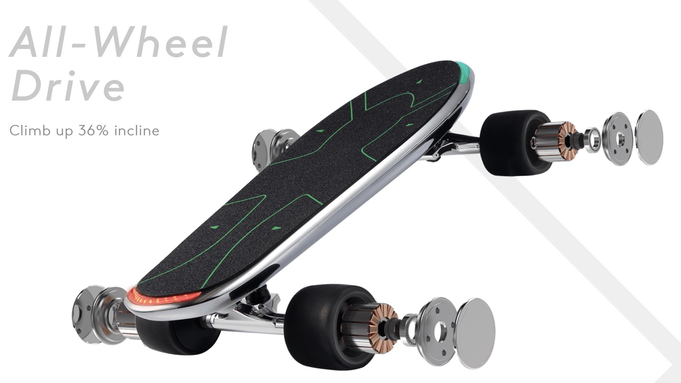 Walnutt SPECTRA Silver Skateboard