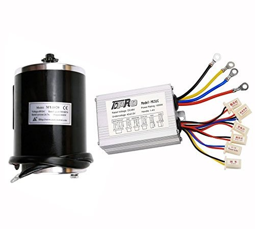 TDPRO 48v 1000w Brushed Speed Motor and Controller Set for