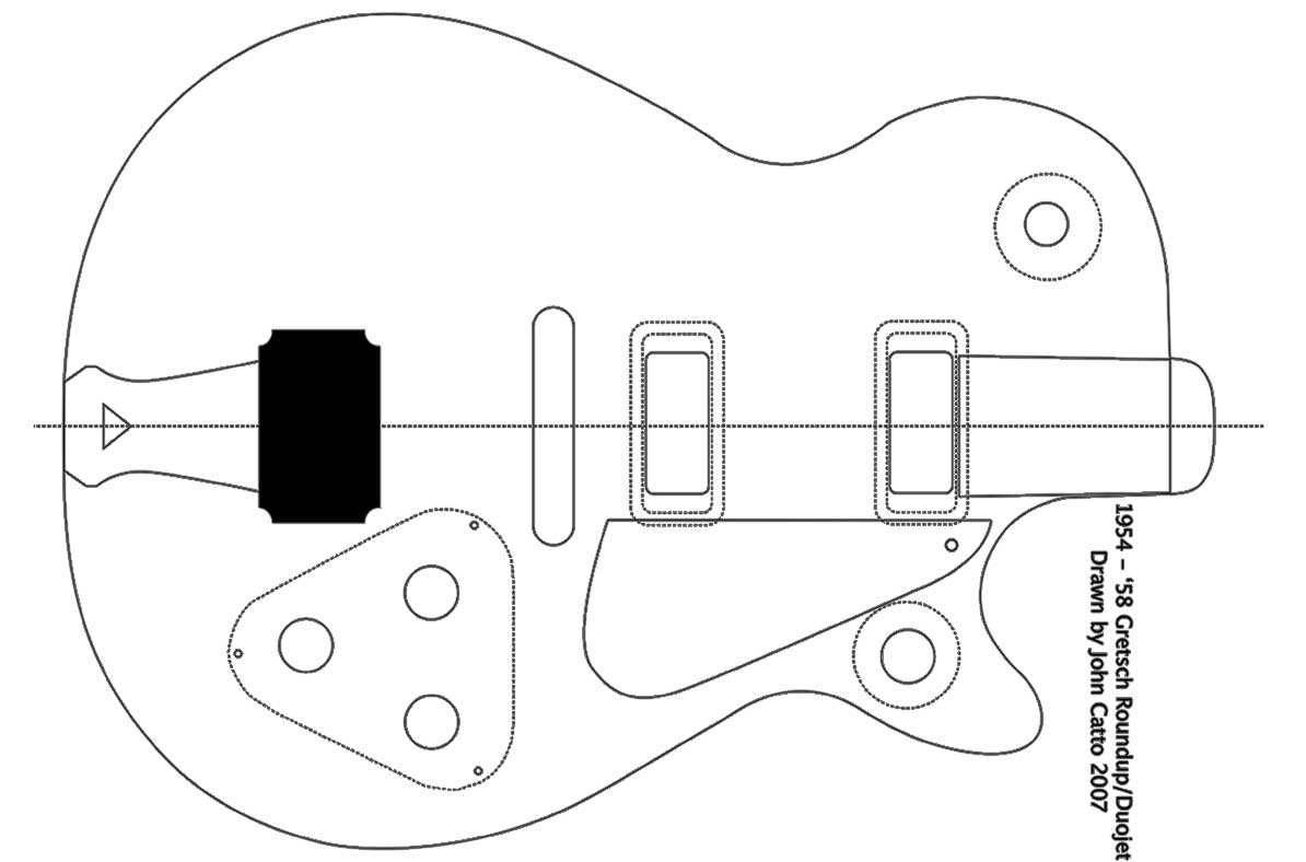 Gretsch Duo Jet Guitar Templates