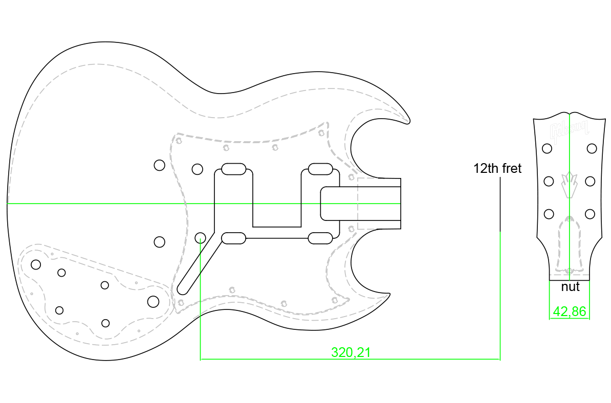 Gibson Sg Custom Guitar Templates