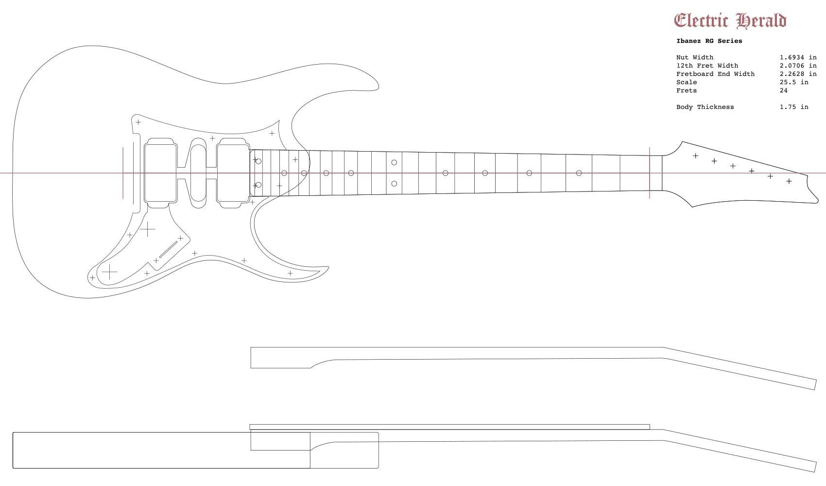 Guitar Neck Profile Templates