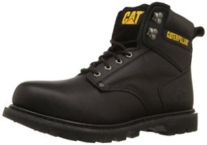 "Caterpillar Men's 2nd Shift 6"" Plain Soft Toe Boot,Black,5 M US"