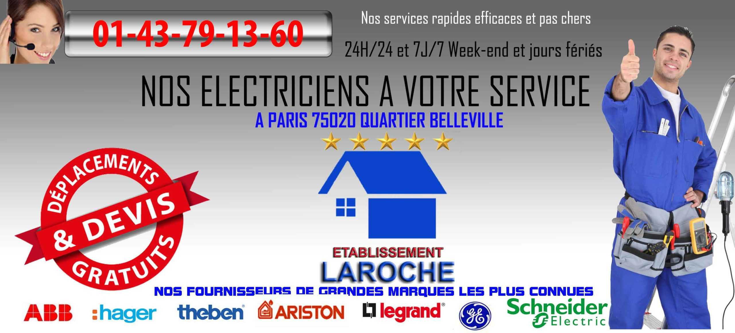 electricien paris 75020