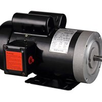 "PowerTech 1203C 3 hp 5/8"" General Purpose Electric Motor Shaft, Single Phase, 208-230V, 56C Frame, 3450 RPM, TEFC"