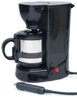 Roadpro RPSC-784 12-Volt Quick Cup Coffee Maker with 16 oz. Metal Carafe