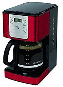 Mr. Coffee JWX36-NP Advanced Brew 12 Cup Programmable Coffee Maker, Red