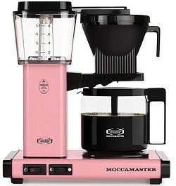 Moccamaster KBG 741 10-Cup Coffee Brewer with Glass Carafe, Pink