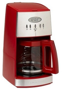 Hamilton Beach 12-Cup Programmable Coffee Maker with Glass Carafe, Ensemble Red