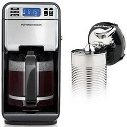 Hamilton Beach 46201 LCD Programmable 12-Cup Coffee-Maker wCordless Can Opener