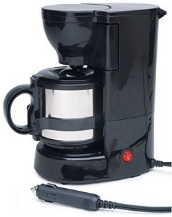 A 12 Volt coffee maker that mounts in you vehicle