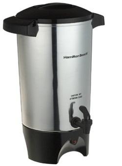 Hamilton Beach 45-Cup Coffee Urn, Silver, Medium