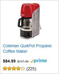 Coleman QuikPot Propane Coffee Maker