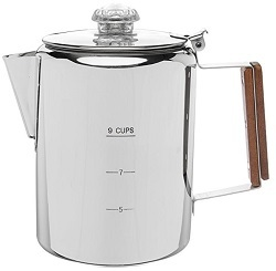 Coletti Bozeman Percolator Coffee Pot - 9 CUP Stainless Steel