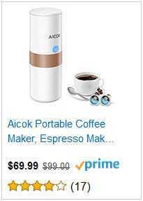 ALCOK PORTABLE COFFEE MAKER ESPRESSO MAKER