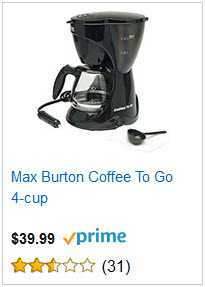 MAX BURTON COFFEE TO GO 4 CUP