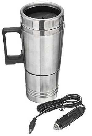 TOOGOO(R) 12v 300ml Portable in Car Coffee Maker Tea Pot Vehicle Thermos Heating Cup Lid
