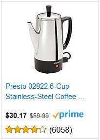 1 PRESTO 6 CUP COFFEE MAKER