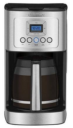 1a Cuisinart DCC-3200 14-Cup Glass Carafe with Stainless Steel Handle Programmable Coffeemaker, Silver