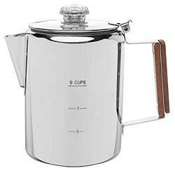 4a Coletti Bozeman Percolator Coffee Pot - 9 CUP Stainless Steel