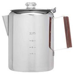 Coletti Bozeman Percolator Coffee Pot - 12 CUP Stainless Steel