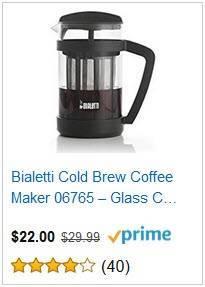6a Bialett Cold Brew Coffee Maker